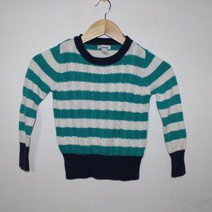 Old Navy Blue Stripe Long Sleeve Sweater Shirt